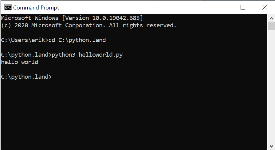Running a Python program file from the command prompt or terminal