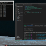 Windows running Ubuntu Linux, with VSCode connected too it