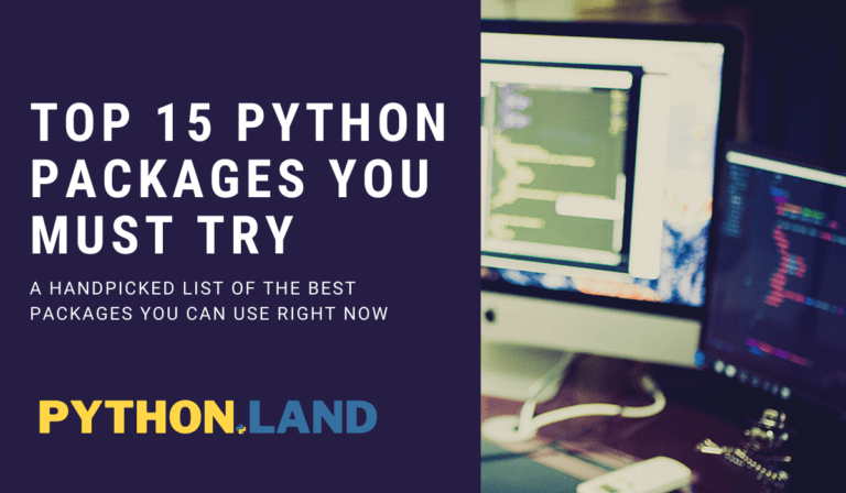 Top 15 Python packages header