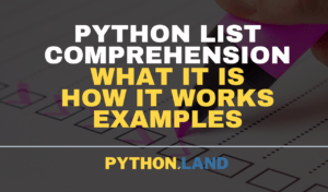 Python List Comprehension