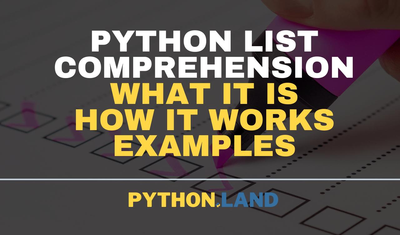Python List Comprehension