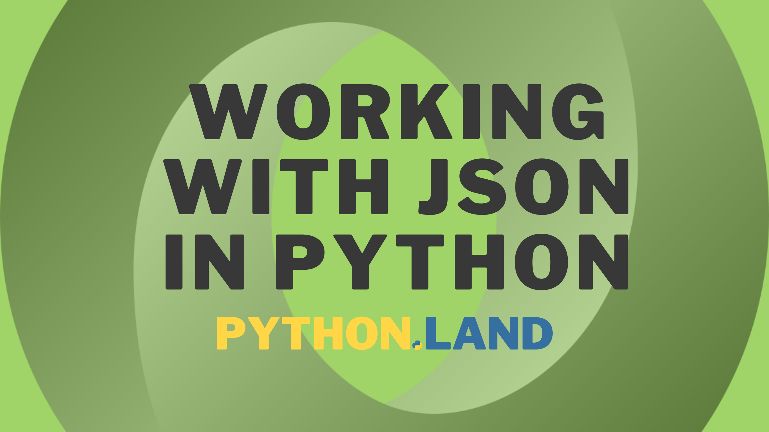 Working with JSON in Python