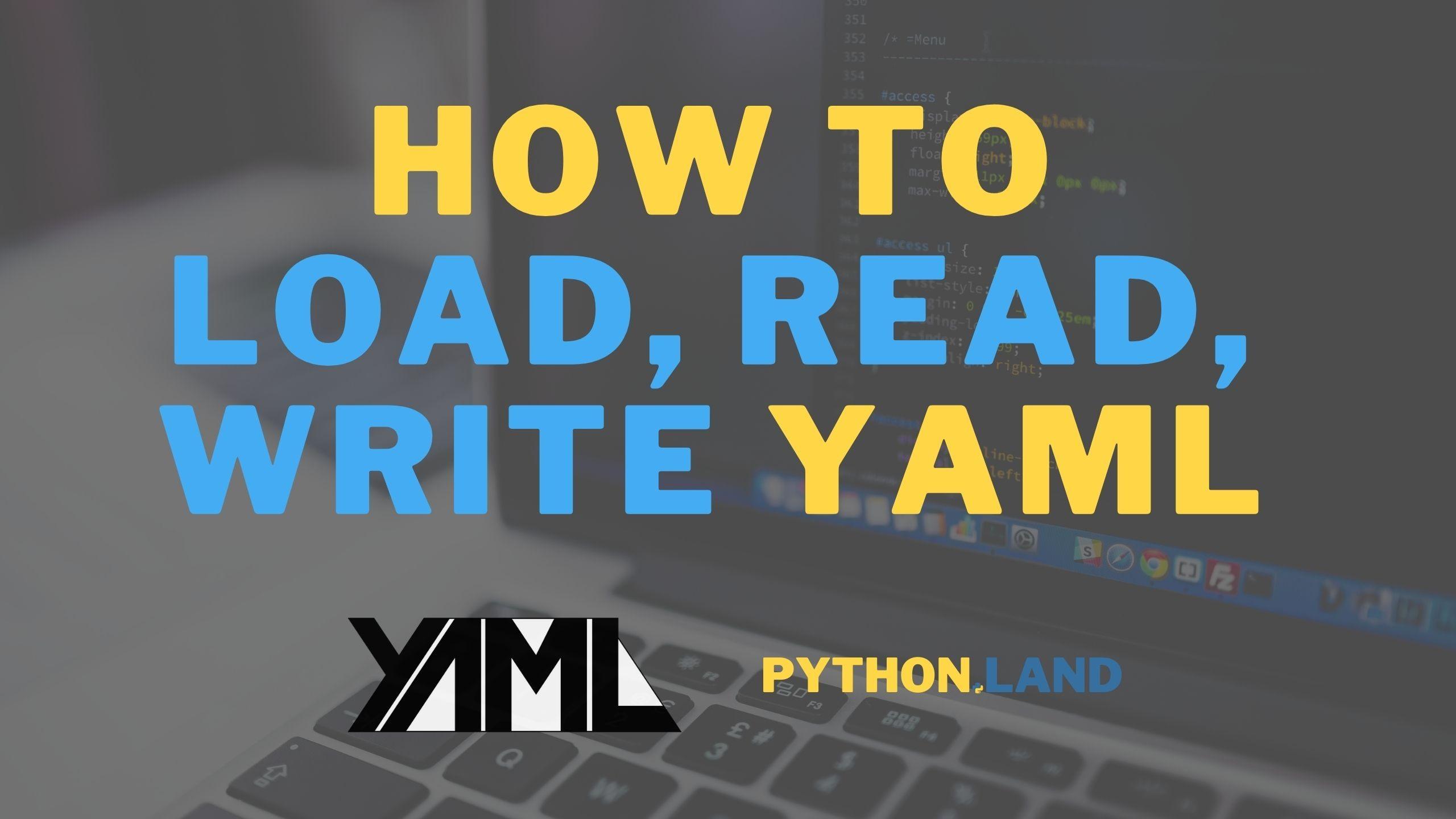 Python yaml