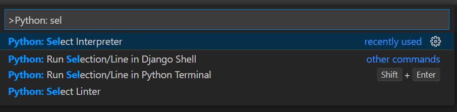 Open VSCode command palerte