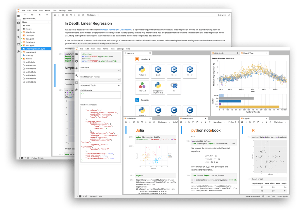 Jupyter Lab interactive notebook example